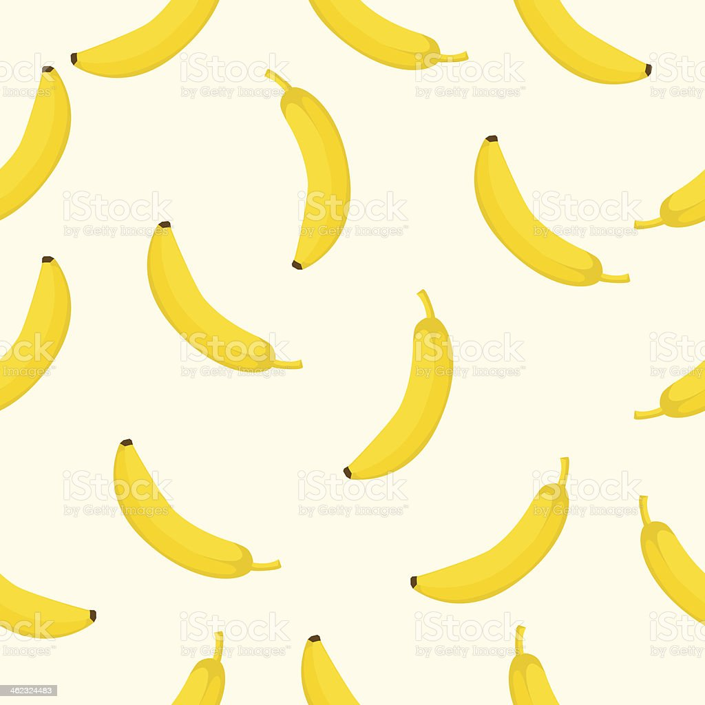 Seamless background with yellow bananas  Vector illustration vector art illustration