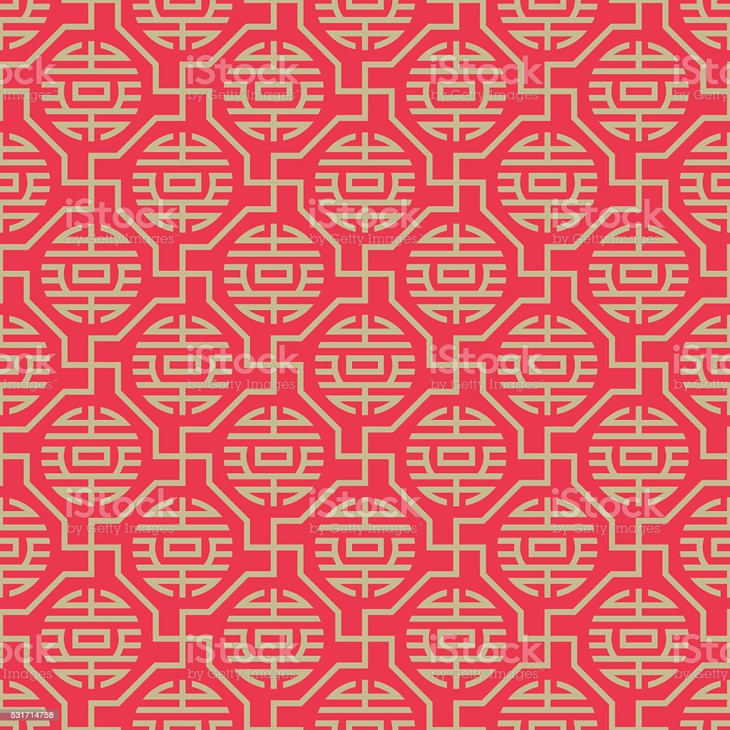 Seamless backgrounds of Chinese style vector art illustration
