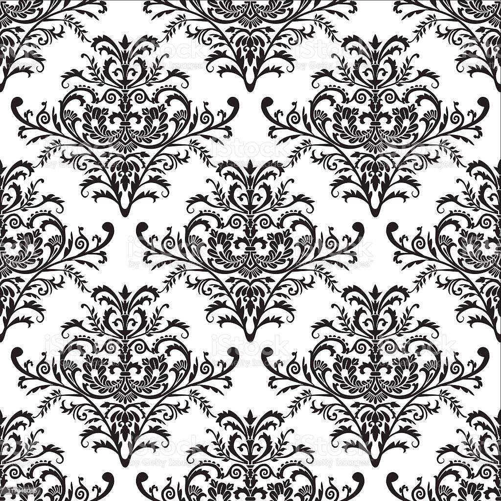 Seamless baroque pattern royalty-free stock vector art