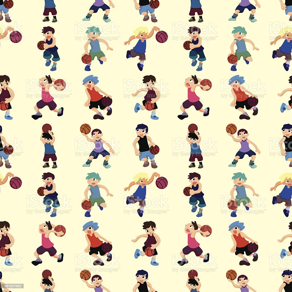 seamless basketball pattern royalty-free stock vector art