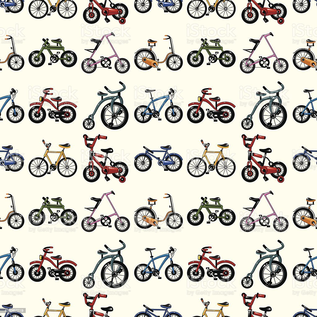 seamless bicycle pattern royalty-free stock vector art