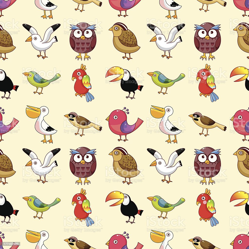 seamless bird pattern royalty-free stock vector art
