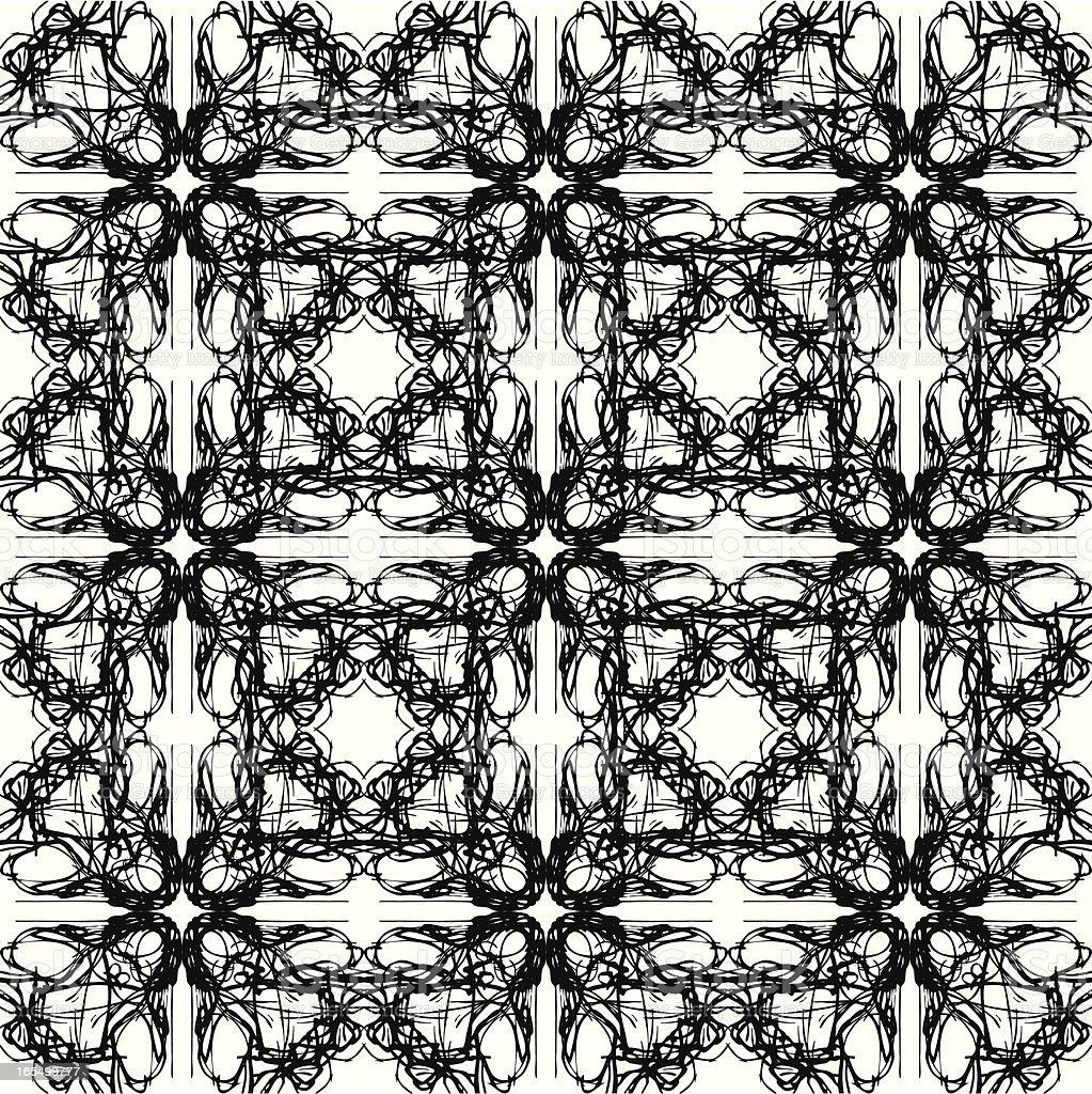 Seamless Black Ink Scribble Pattern royalty-free stock vector art