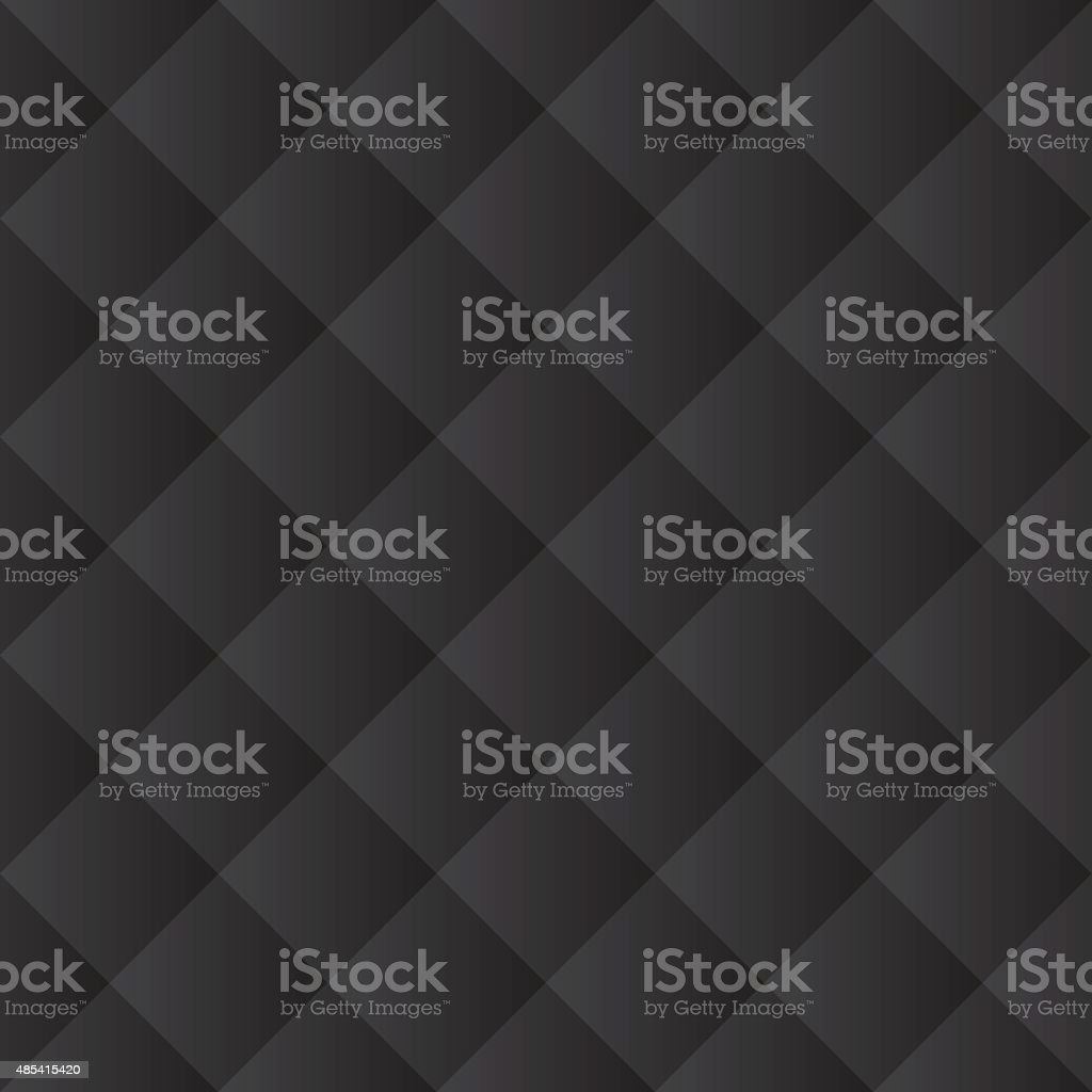Seamless black padded upholstery pattern texture vector art illustration