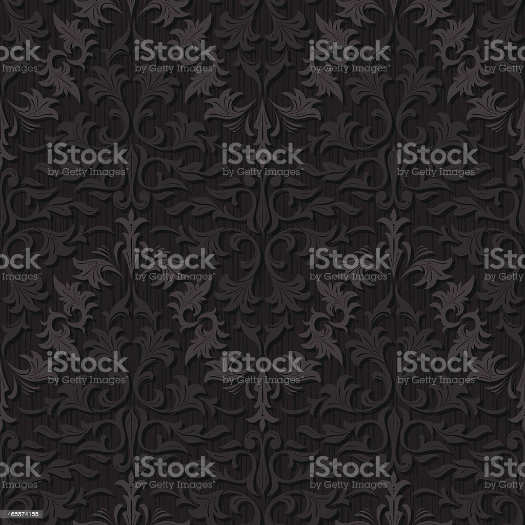 seamless black silk wallpaper pattern royalty-free stock vector art