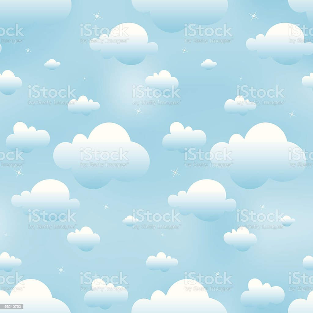 seamless blue clouds royalty-free stock vector art