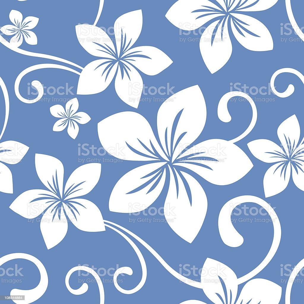 Seamless Blue Hawaii Pattern royalty-free stock vector art