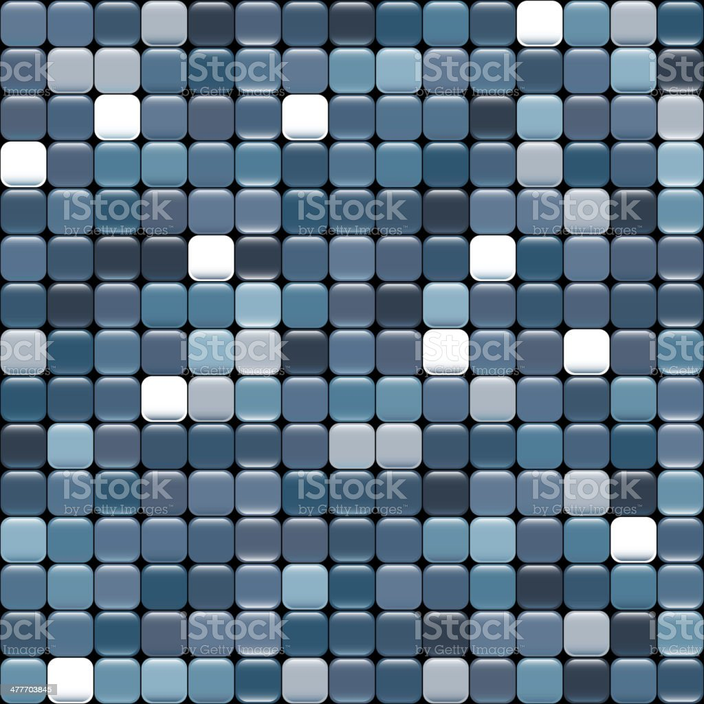 seamless blue texture of squares with glare vector art illustration