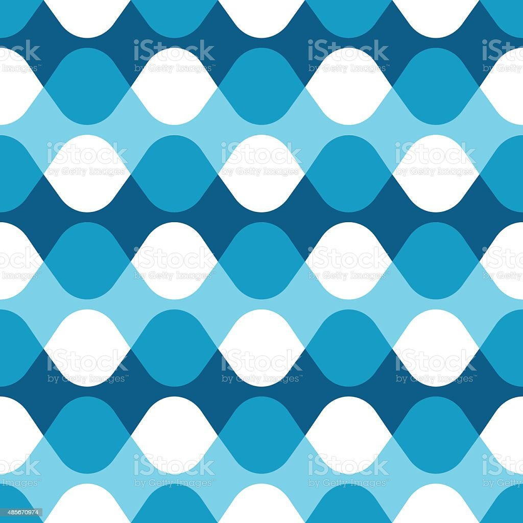 Seamless blue vibrating dot pattern vector art illustration