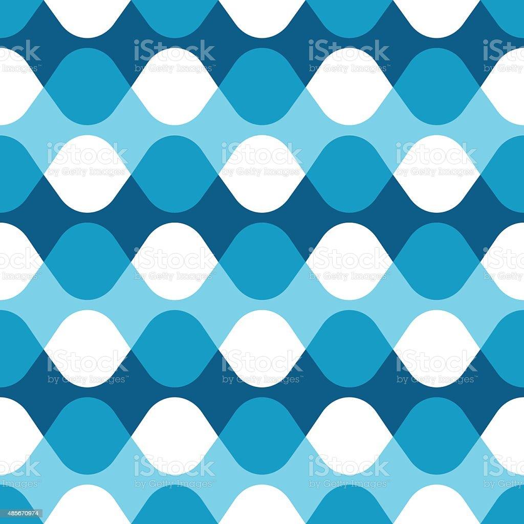 Seamless blue vibrating dot pattern vector art illustration