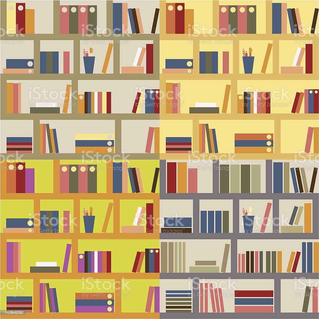 Seamless Bookshelf. royalty-free stock vector art