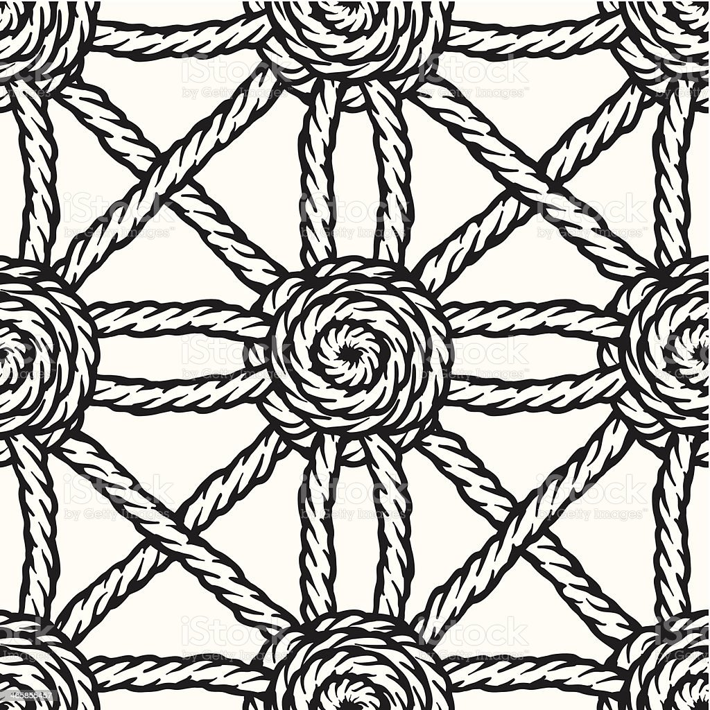 seamless braided rope background vector art illustration