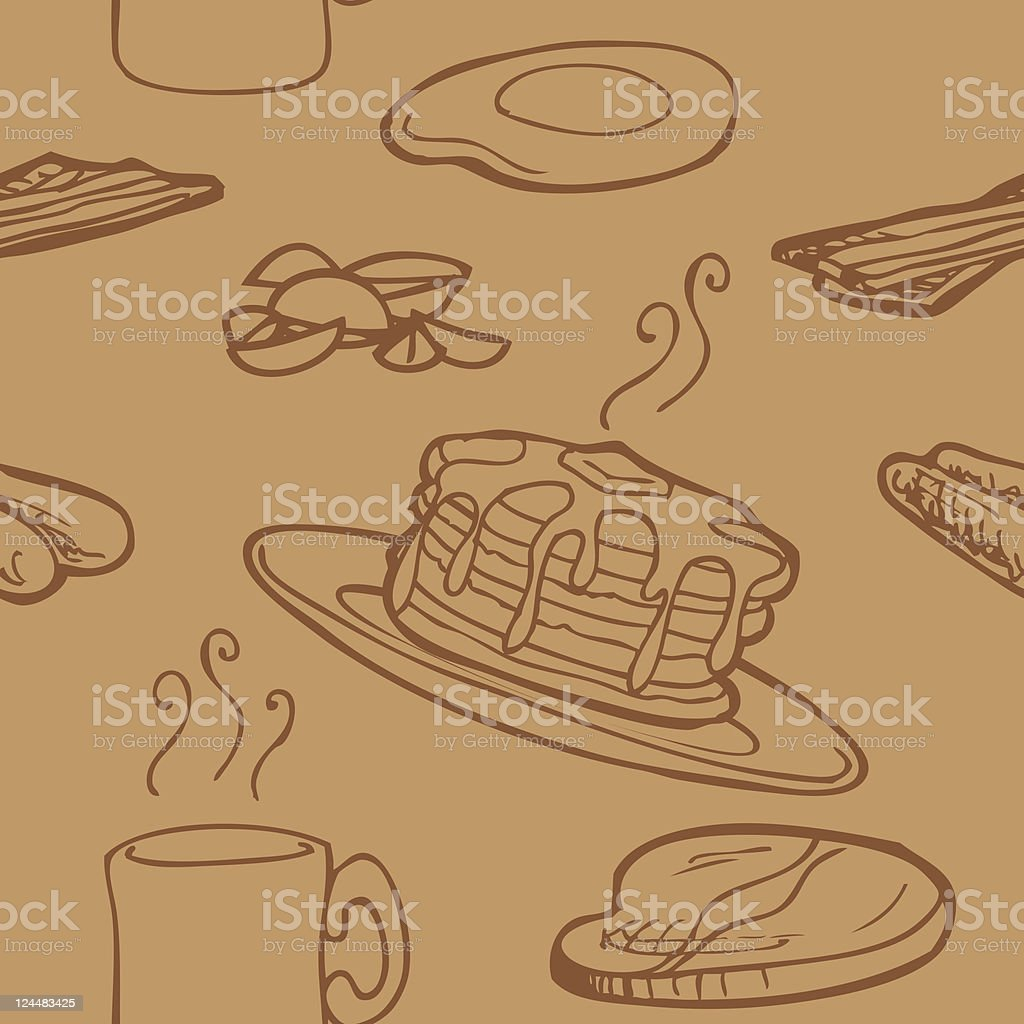 Seamless Breakfast Background royalty-free stock vector art