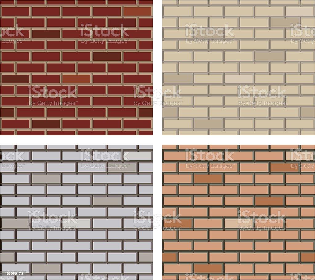 Seamless brick texture vector art illustration
