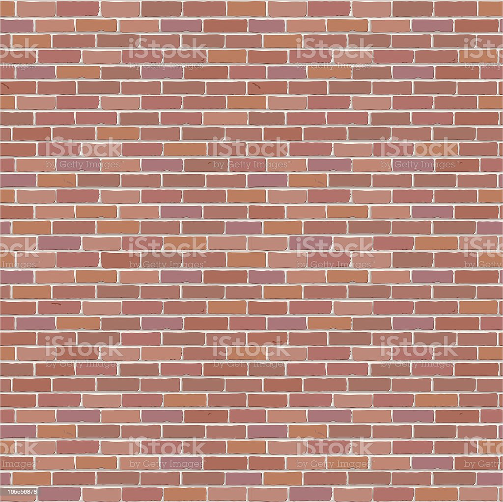 Seamless brick wall background vector art illustration