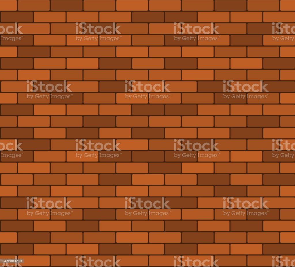 Seamless brick wall background royalty-free stock vector art