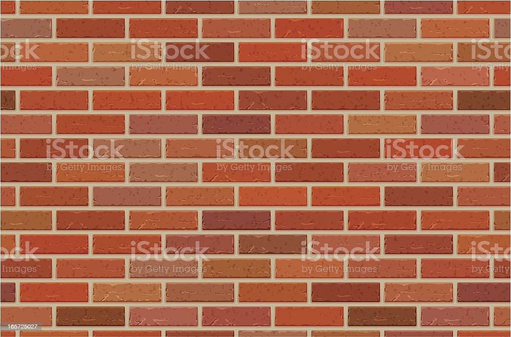 Seamless brick wall pattern royalty-free stock vector art