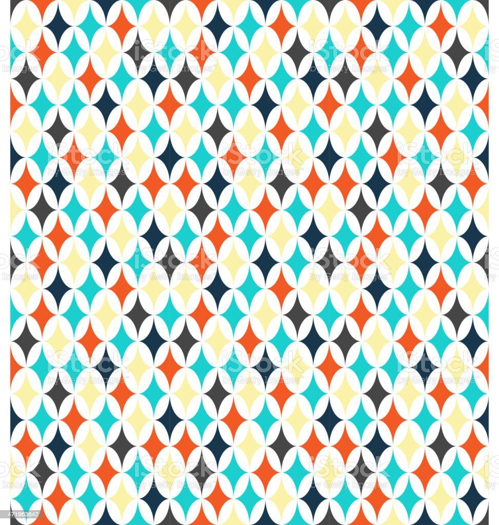Seamless bright abstract pattern vector art illustration