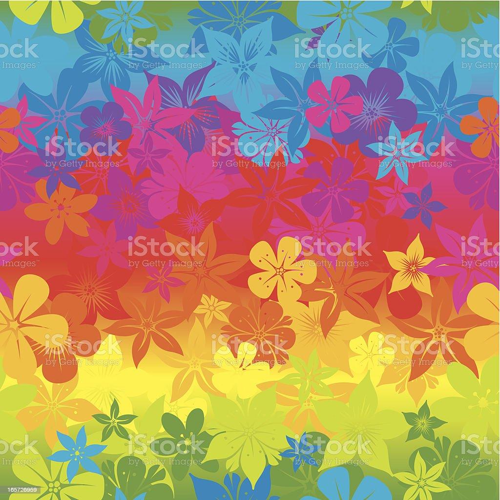 Seamless bright flower wallpaper royalty-free stock vector art