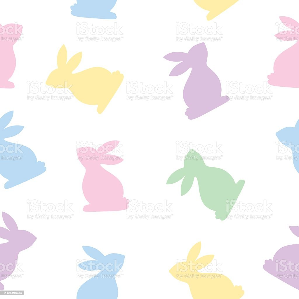 Seamless Bunnies Pattern vector art illustration