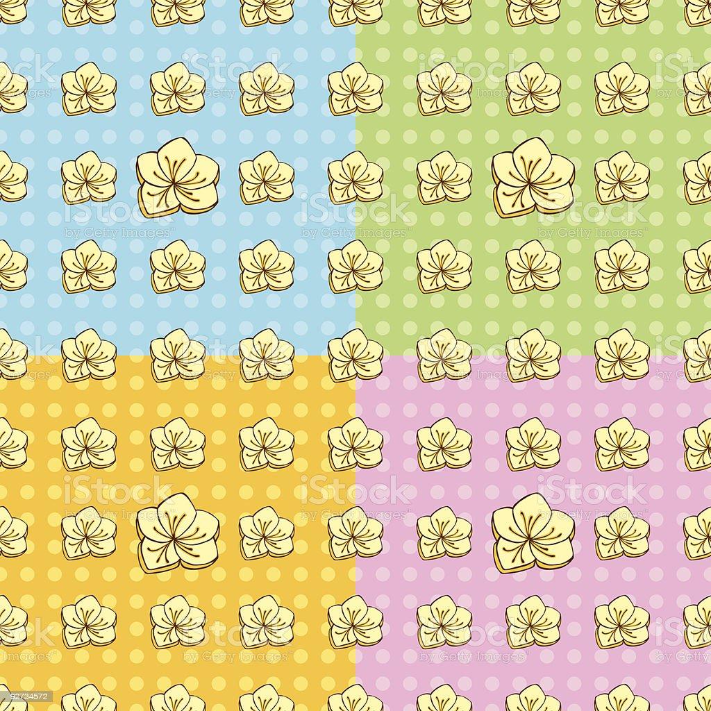 Seamless Buttercup Pattern vector art illustration
