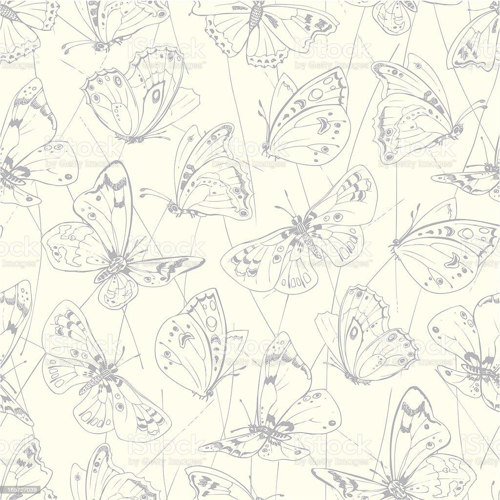 seamless butterflies royalty-free stock vector art