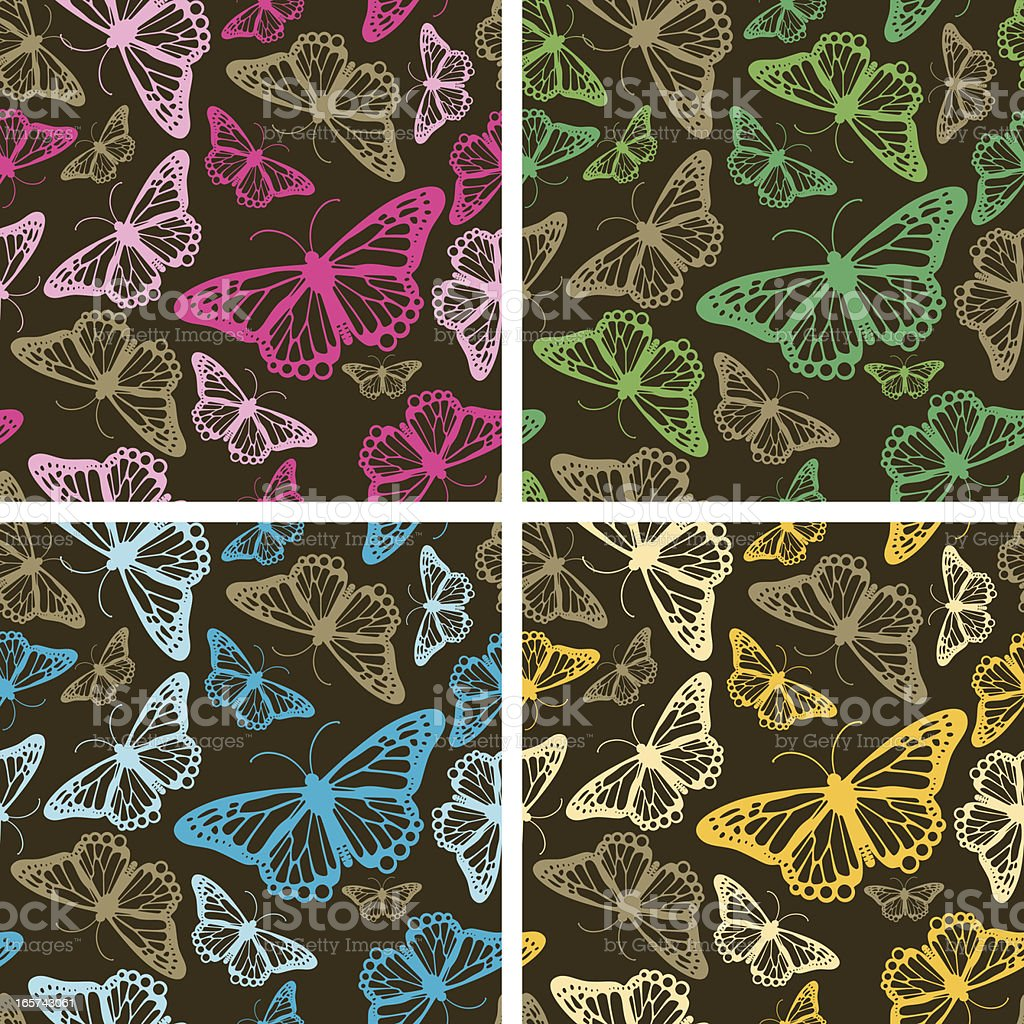 Seamless Butterfly Pattern royalty-free stock vector art