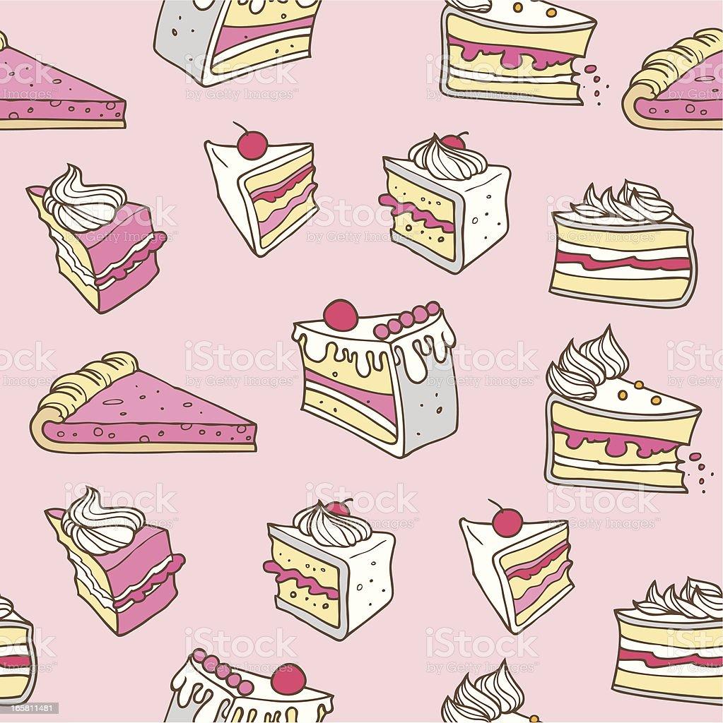 Seamless Cake vector art illustration