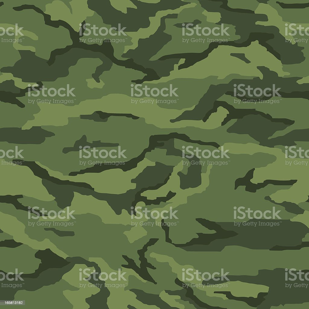 Seamless camouflage background vector art illustration