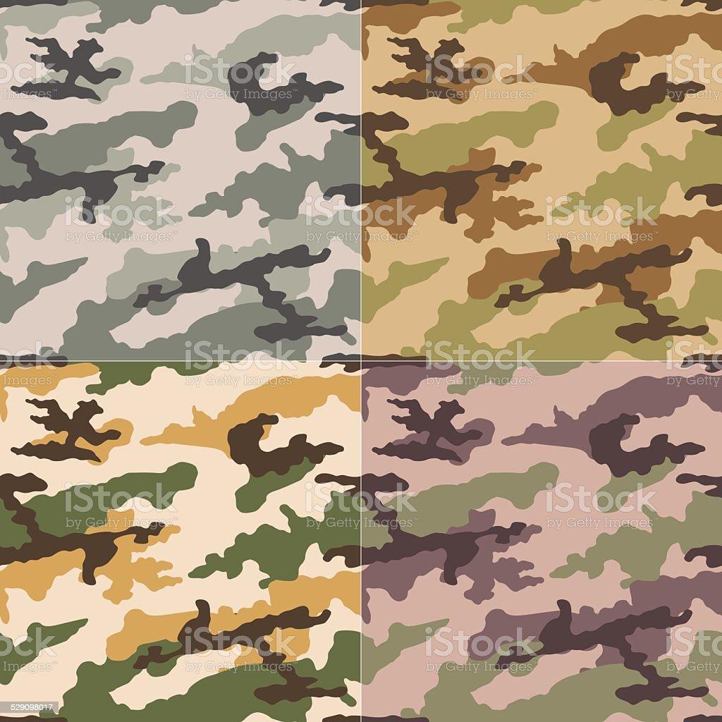 seamless camouflage pattern vector art illustration