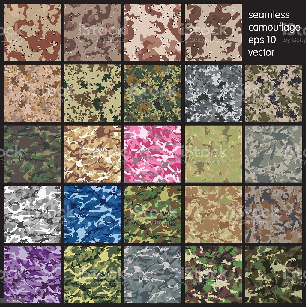 Seamless Camouflage pattern vector vector art illustration