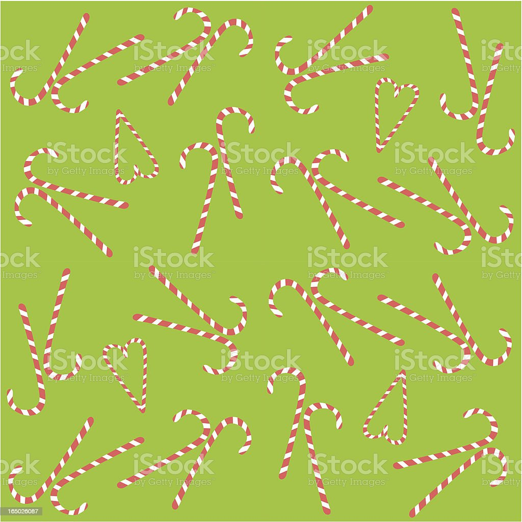 Seamless Candy Cane Background ( Vector ) royalty-free stock vector art