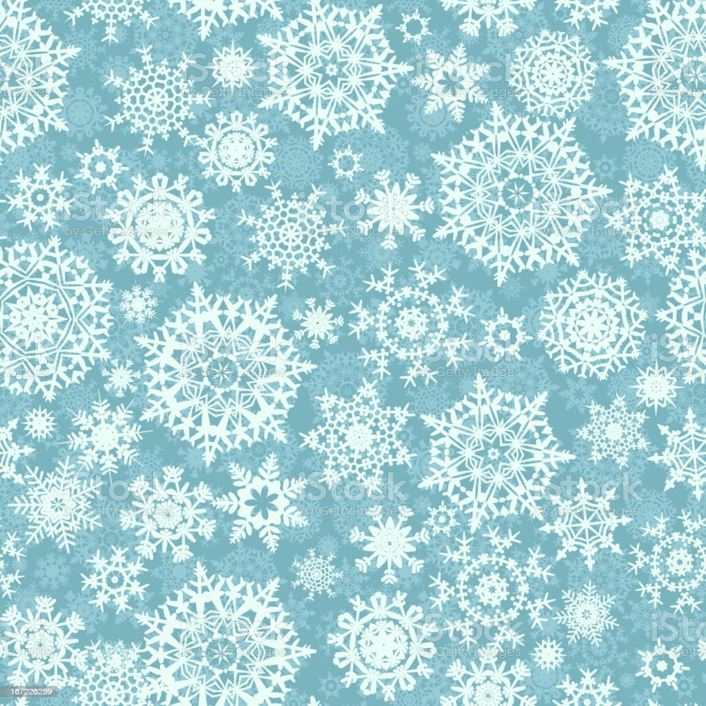 Seamless card with Christmas snowflakes. EPS 8 royalty-free stock vector art