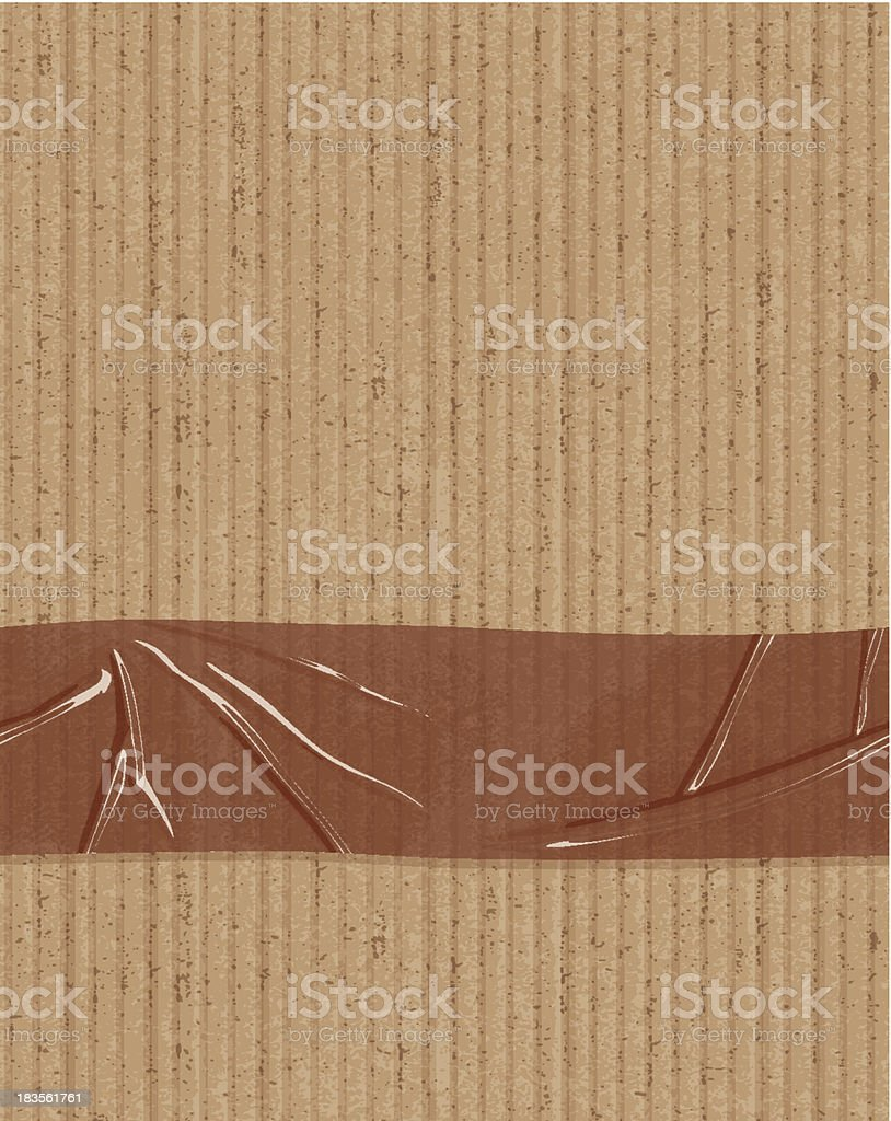 seamless cardboard with tape banner royalty-free stock vector art