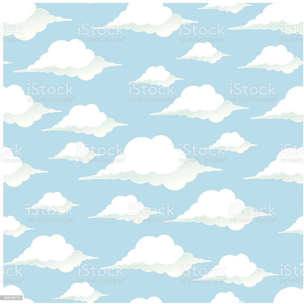 Seamless Cartoon Clouds royalty-free stock vector art