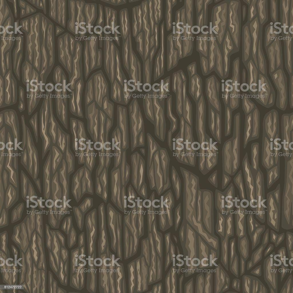 Seamless cartoon tree bark texture. Tileable vector illustration. vector art illustration