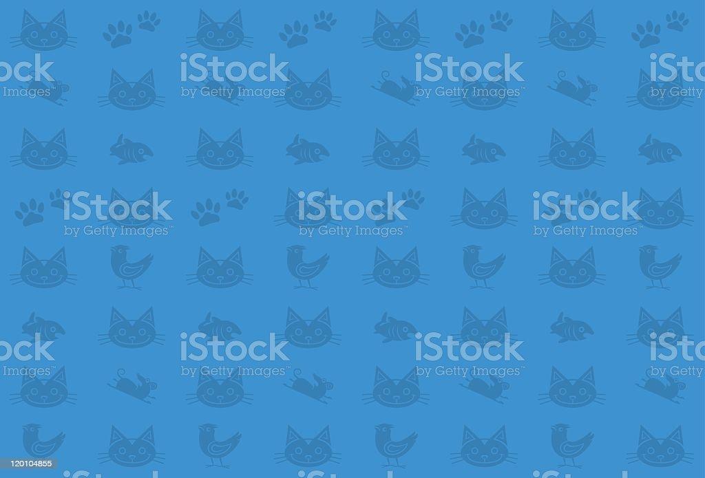 Seamless Cat Pattern royalty-free stock vector art