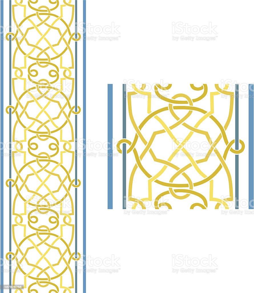 Seamless Celtic Border vector art illustration