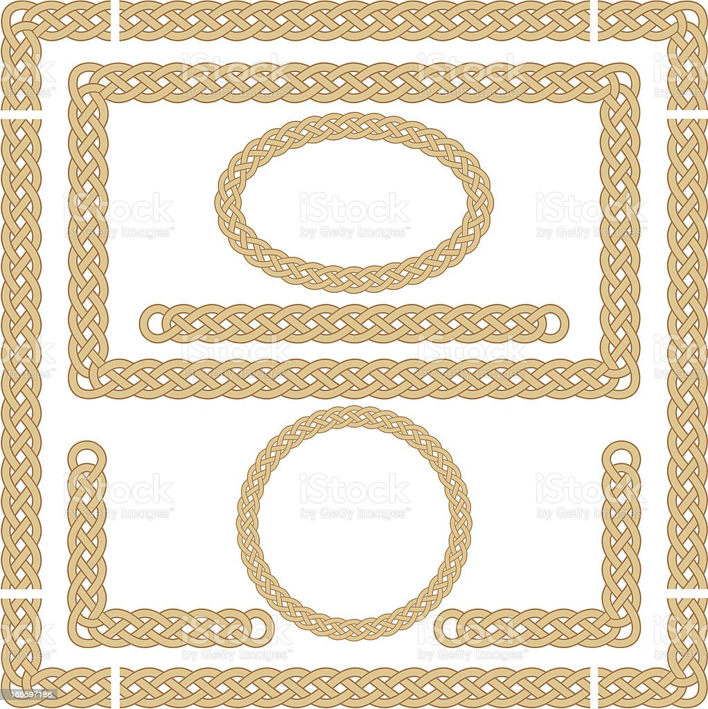 Seamless Celtic Knot Frames vector art illustration