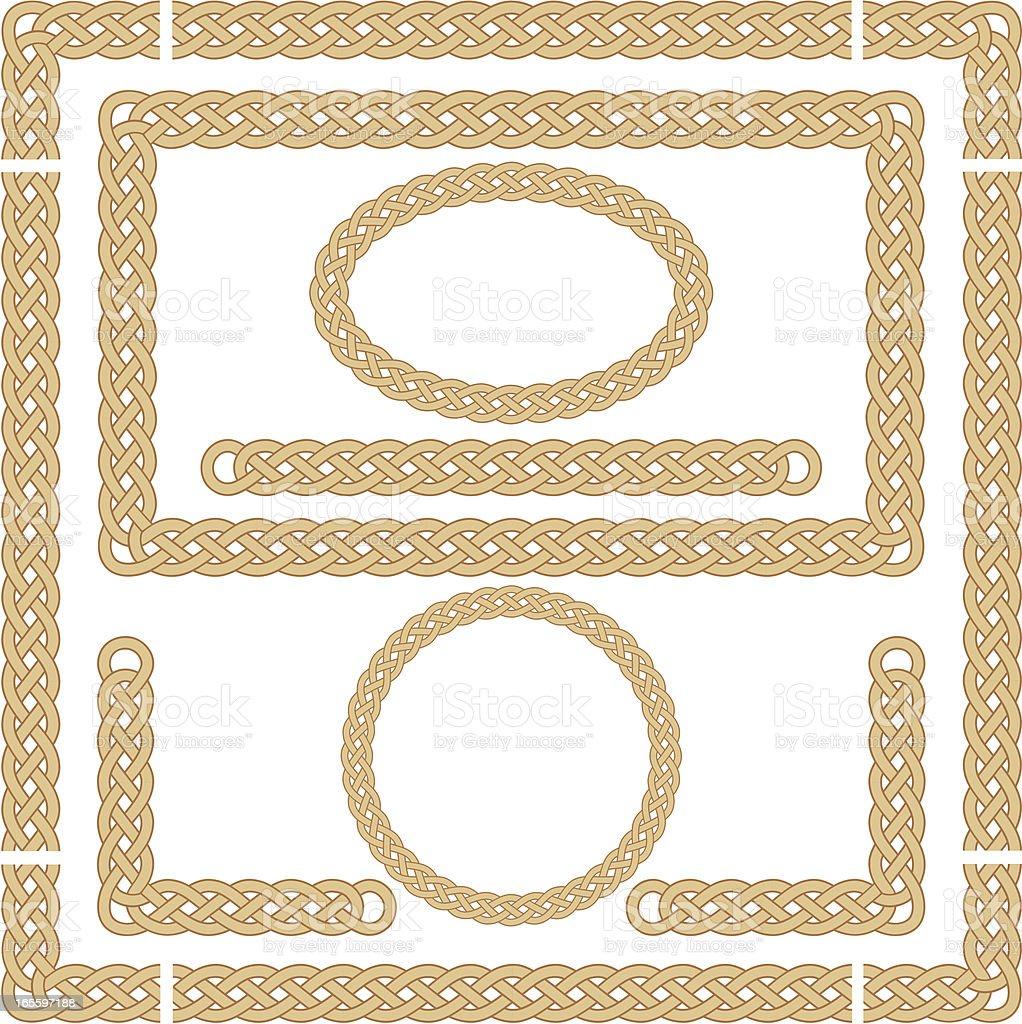 Seamless Celtic Knot Frames vector art illustration