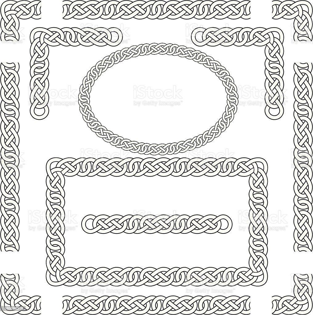 Seamless Celtic Knots, Frame, Border, Corners royalty-free stock vector art