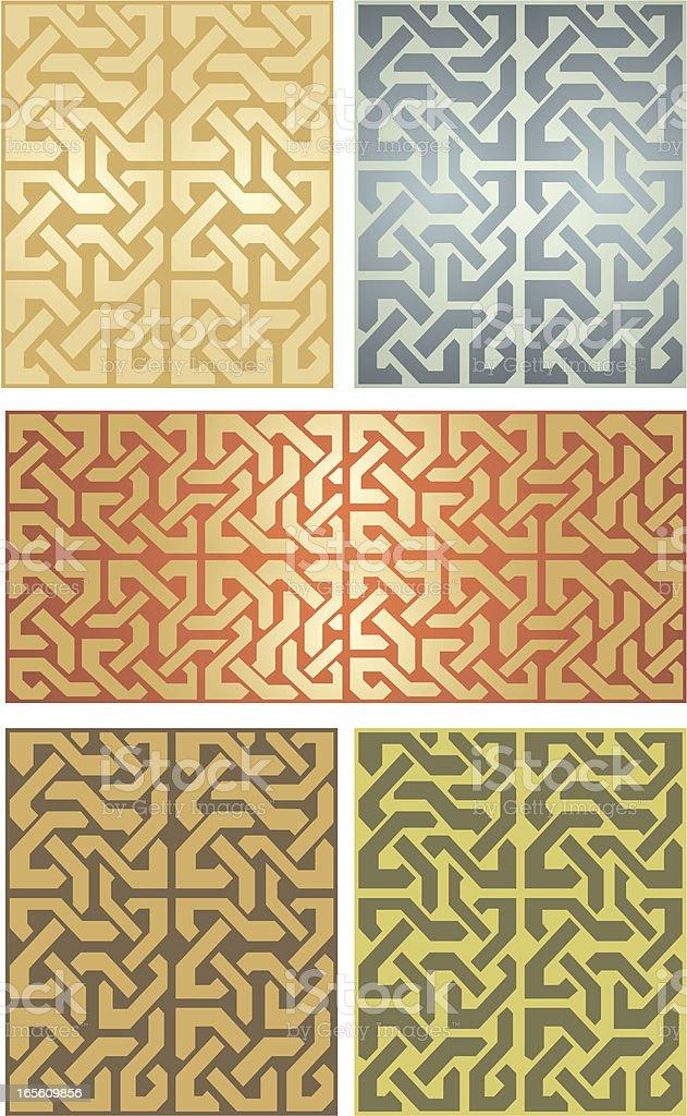 Seamless Celtic Set royalty-free stock vector art