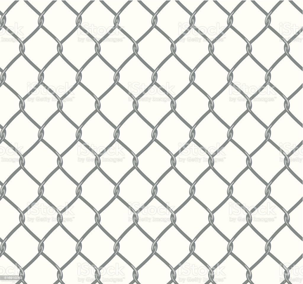 Seamless Chain Fence vector art illustration