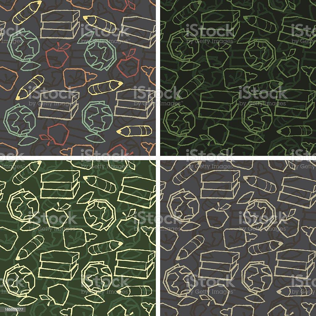 Seamless Chalkboard School Background vector art illustration