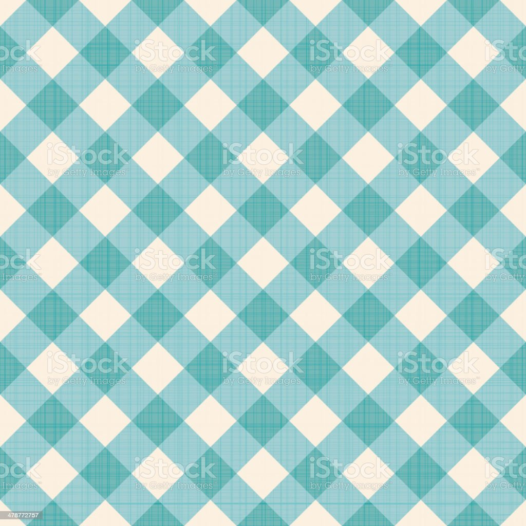 Seamless checked background vector art illustration