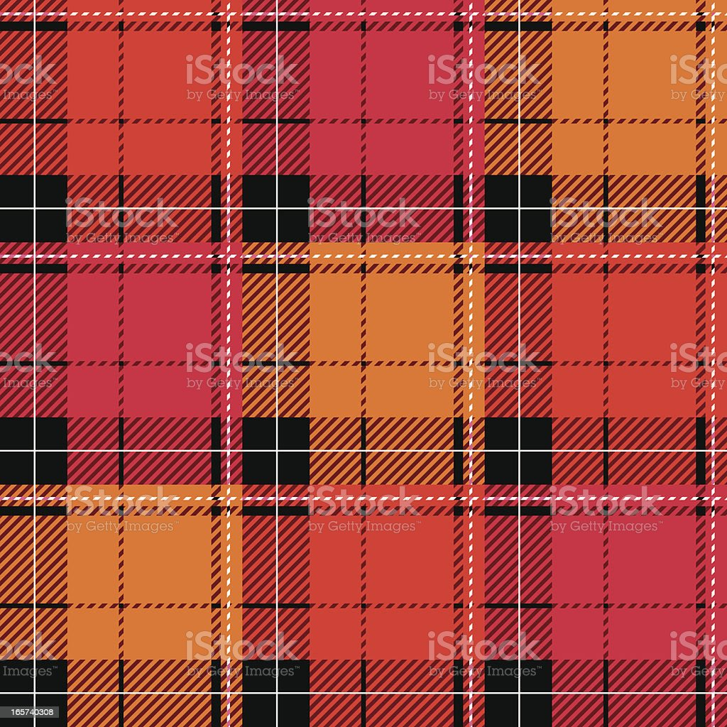 Seamless Checked Plaid vector art illustration