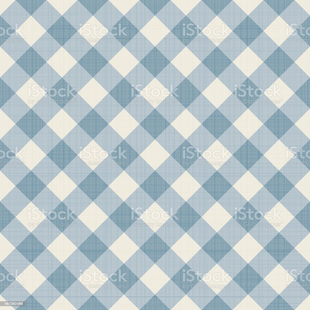 Seamless checkered background vector art illustration