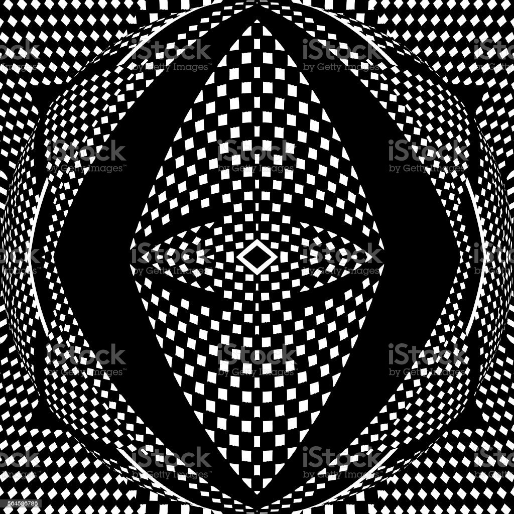 Seamless Checkered Halftone Pattern vector art illustration