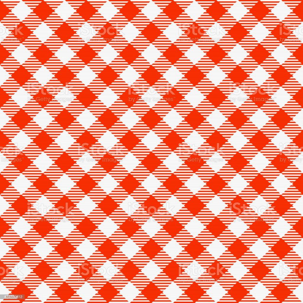 Seamless Checkered Tablecloth Vector Art Illustration