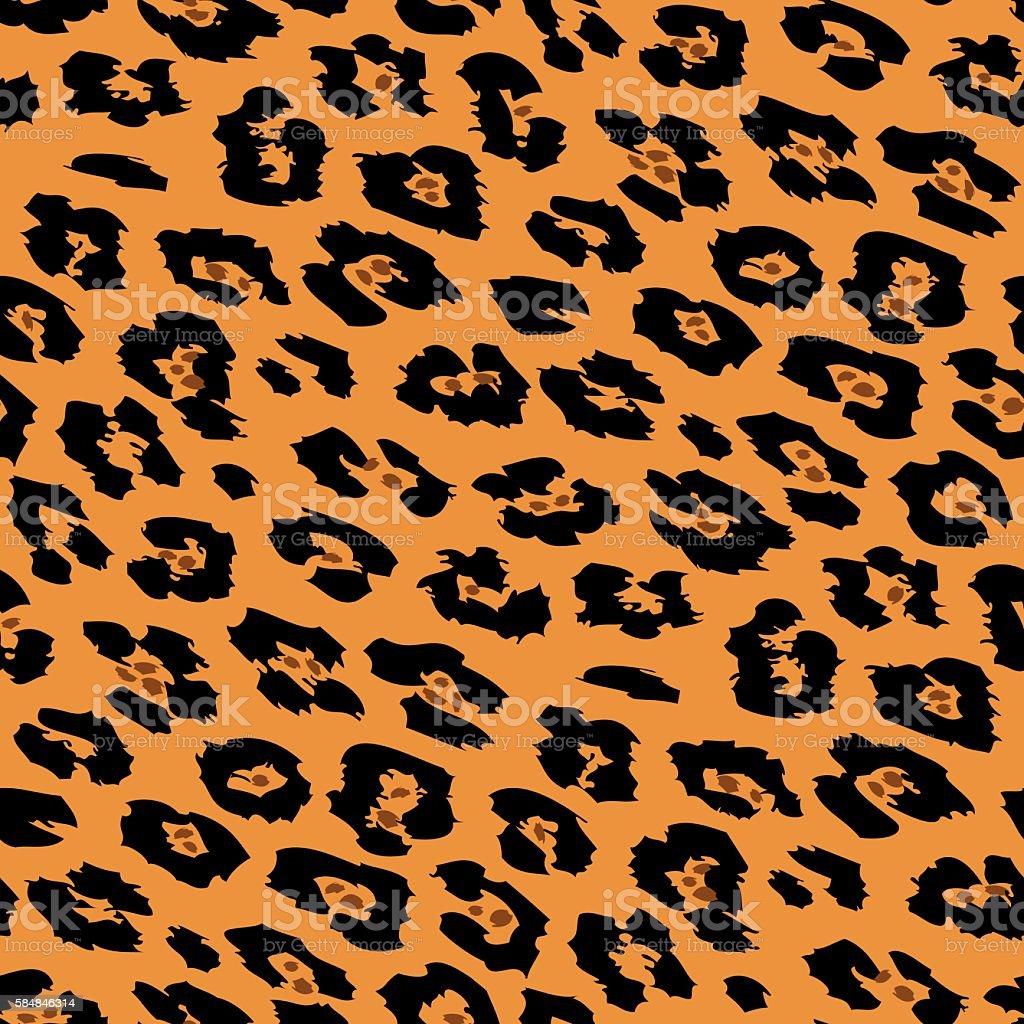 Seamless cheetah skin pattern vector art illustration